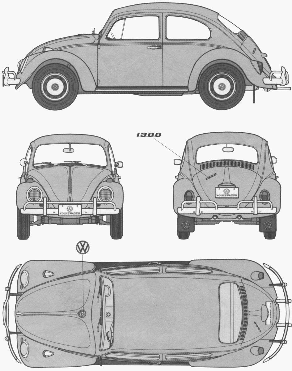 Coloriage imprimer v hicules voiture volkswagen - Dessin coccinelle voiture ...