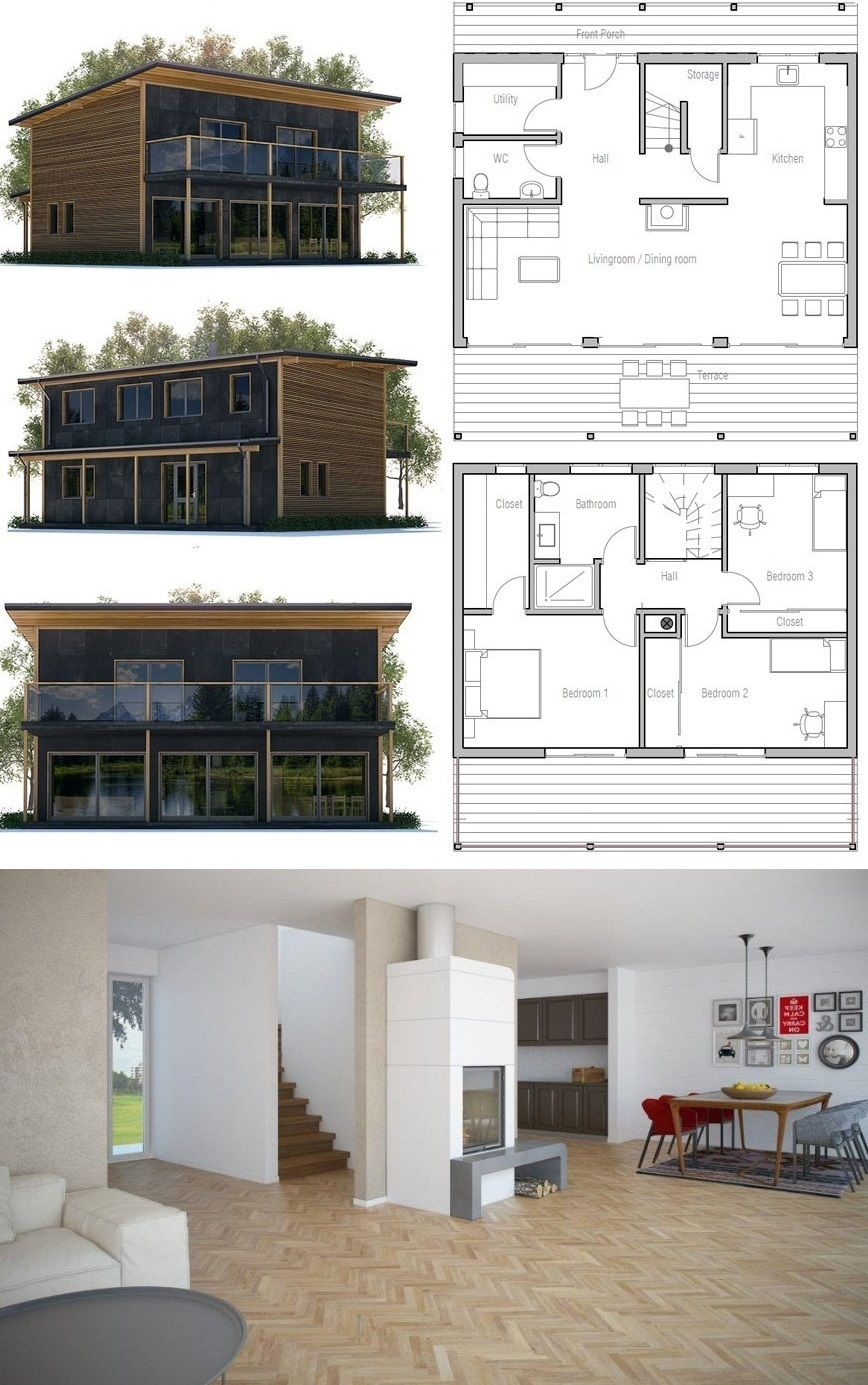 Small home plan architecture homeplans houseplans floorplans newhome also rh pinterest