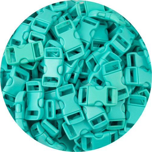 25 Pack 3/8 Turquoise Quick Release Plastic by springfieldleather