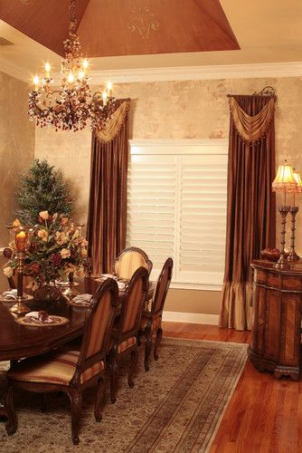Window Treatments Page 19 Dining Room Window Treatments Tuscan Dining Rooms Dining Room Windows