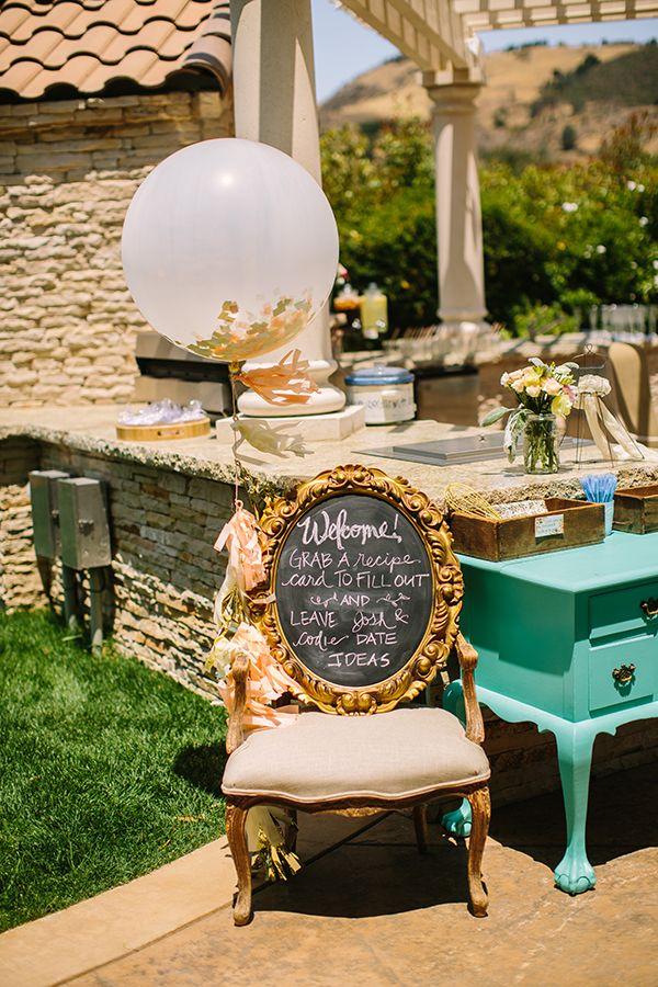 confetti balloon bridal shower decor