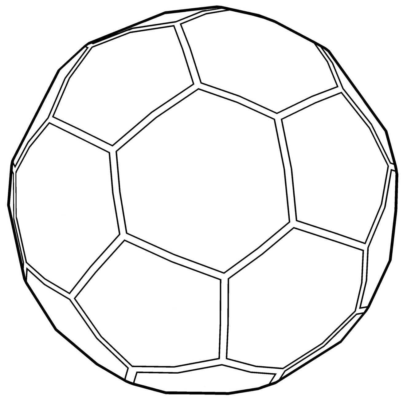 cool Soccer Ball Outline Coloring Page | Soccer ball ...
