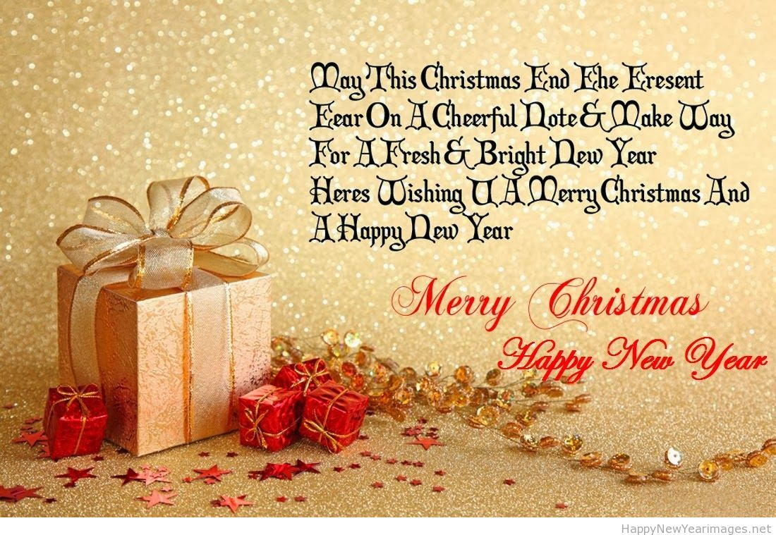 Happy New Year And Merry Christmas Saying New Happy New Year