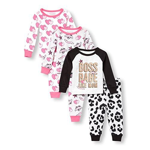 cb2837460 The Children s Place Baby Girls 6 Piece Pajama Set
