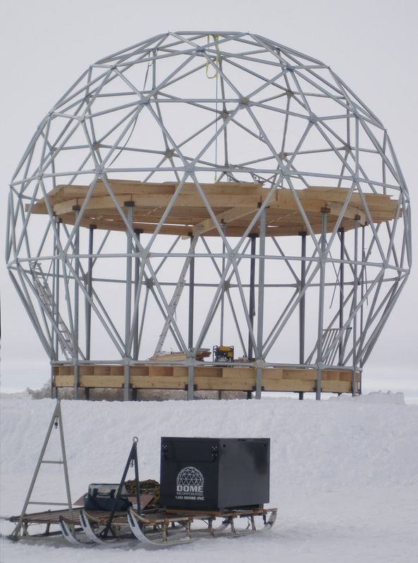 Steel frames for geodesic dome made with steel for hurricanes and ...