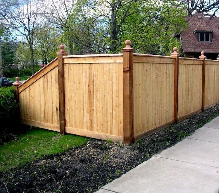 25 Beautiful Fence Designs To Improve And Accentuate Yard Landscaping Ideas Backyard Fences Fence Design Wood Fence Design