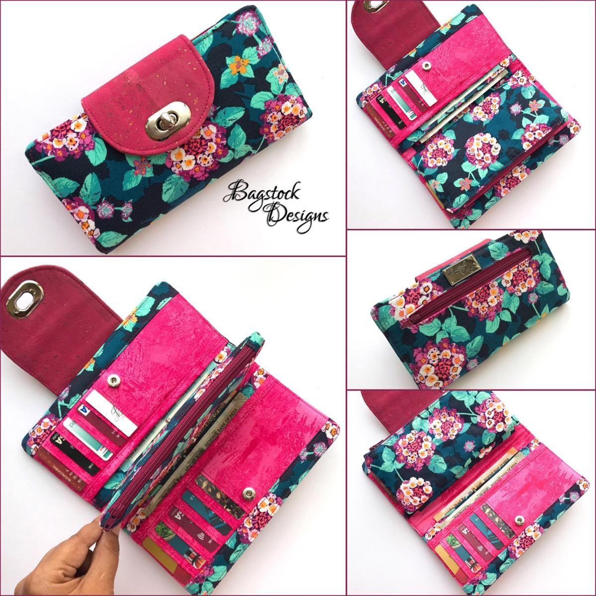 Mia Everyday Wallet | Sewing | Diy wallet, Wallet pattern