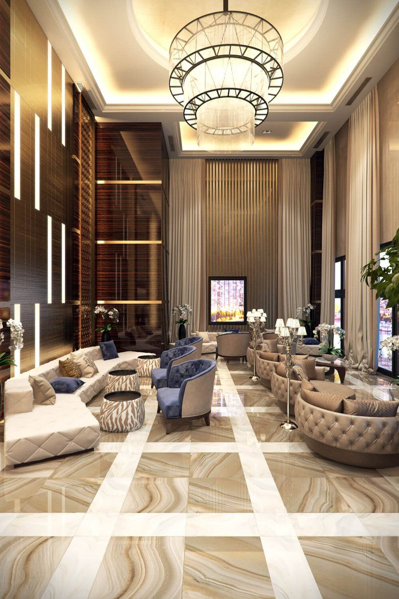 Commercial Interior Design Rendering For A Sublime Hotel Lobby, New York,  2016   ArchiCGI
