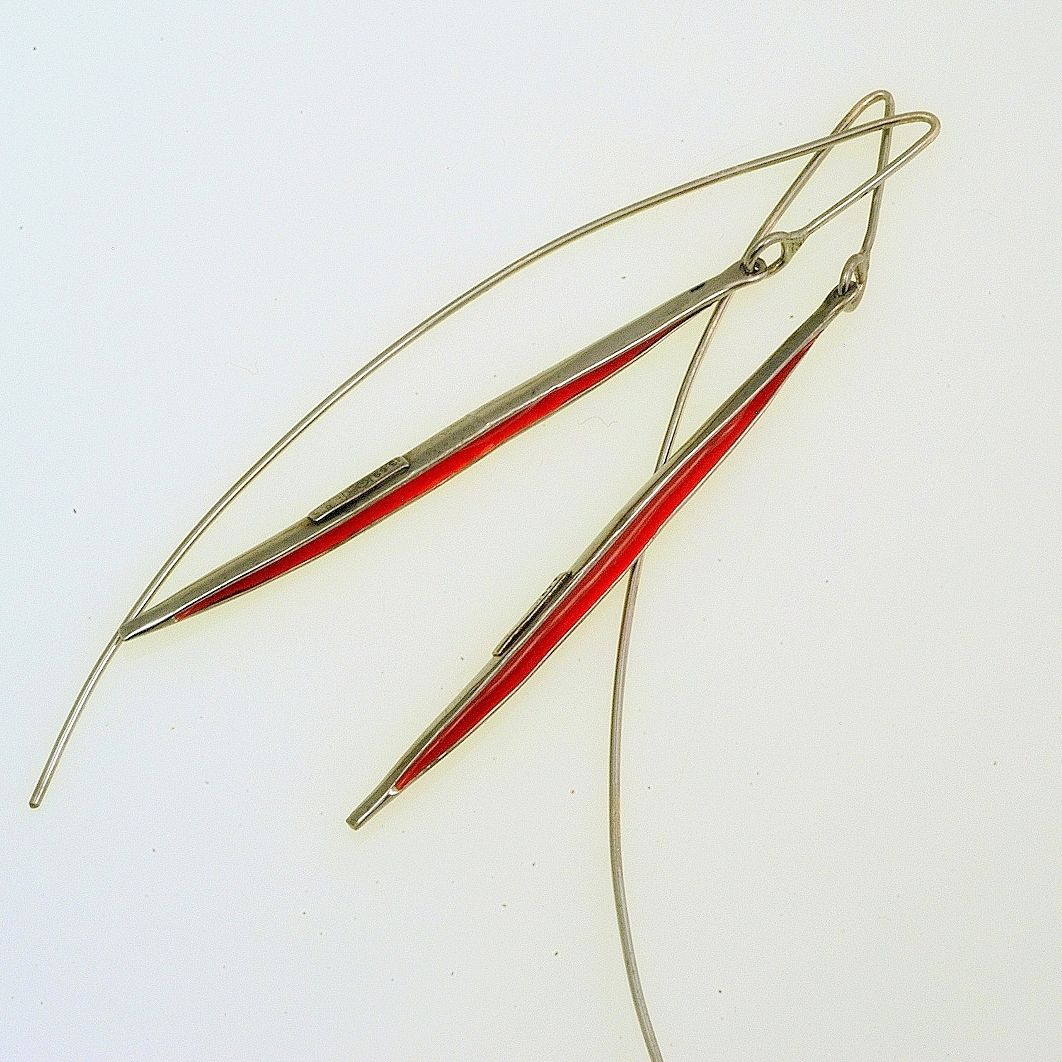 Reflections Earrings Iosif with ruthenium plated Silver 925 & enamel. Earrings Code:3381.ER.1822.RE.06.003