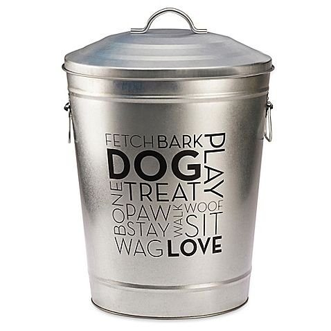 Vintage Style Retro Dog Food Tin With Scoop Ideal For Storing