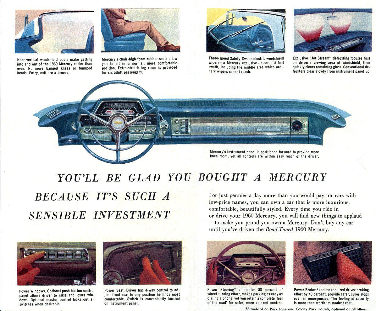 1960 Mercury | Mercury ..Car brochures | Pinterest | Mercury cars ...
