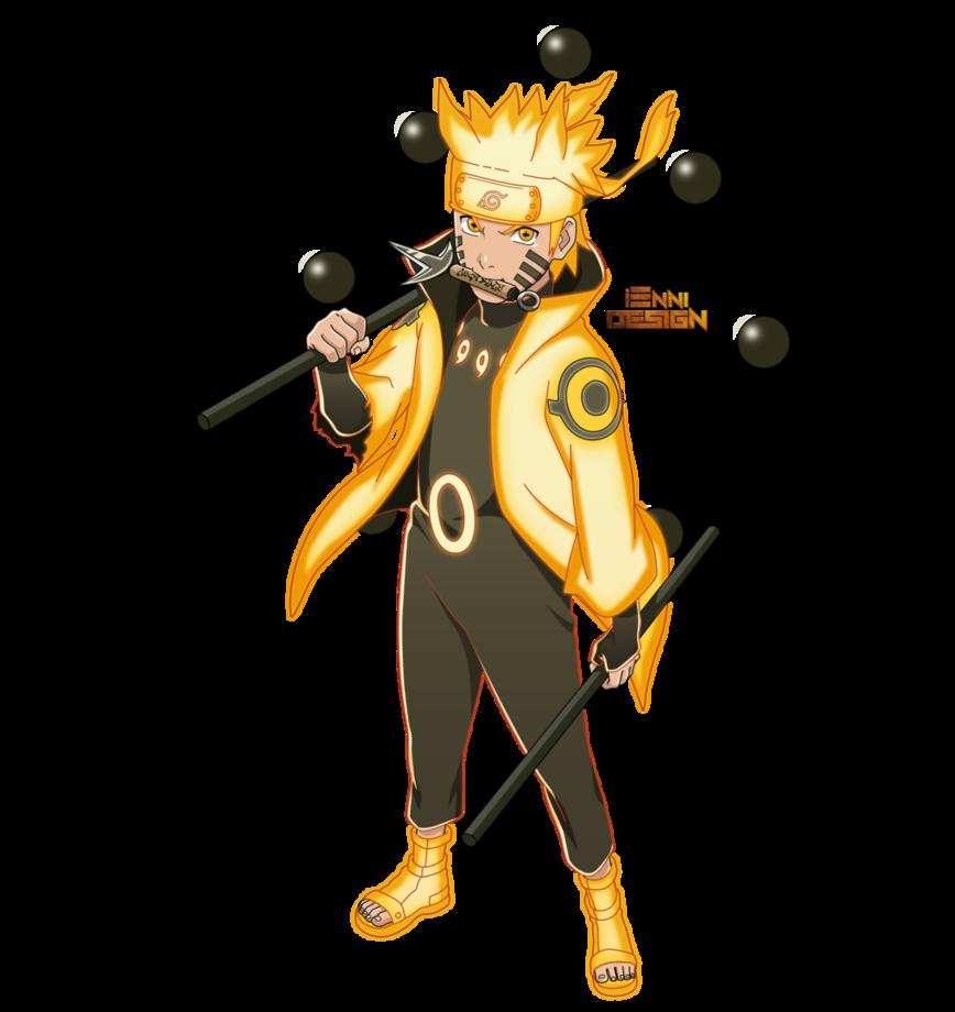 Naruto Shippuden Naruto Uzumaki Six Paths Mode By Iennidesign