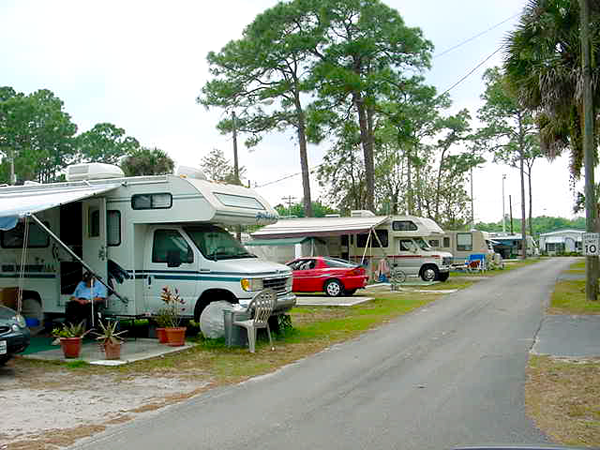 Jones Mobile Home RV Park At North Fort Myers Florida