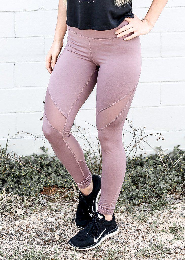 319330443aeac6 Mauve Mesh Athletic Leggings | Products | Leggings, Workout pants, Pants