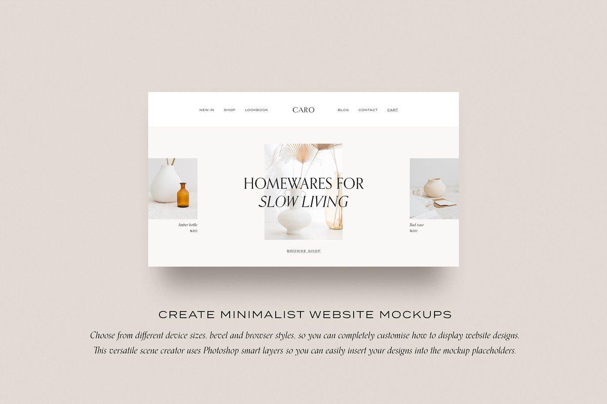 Minimal Website Mockup Scene Creator Website Mockup Scene Creator Mockup Creator
