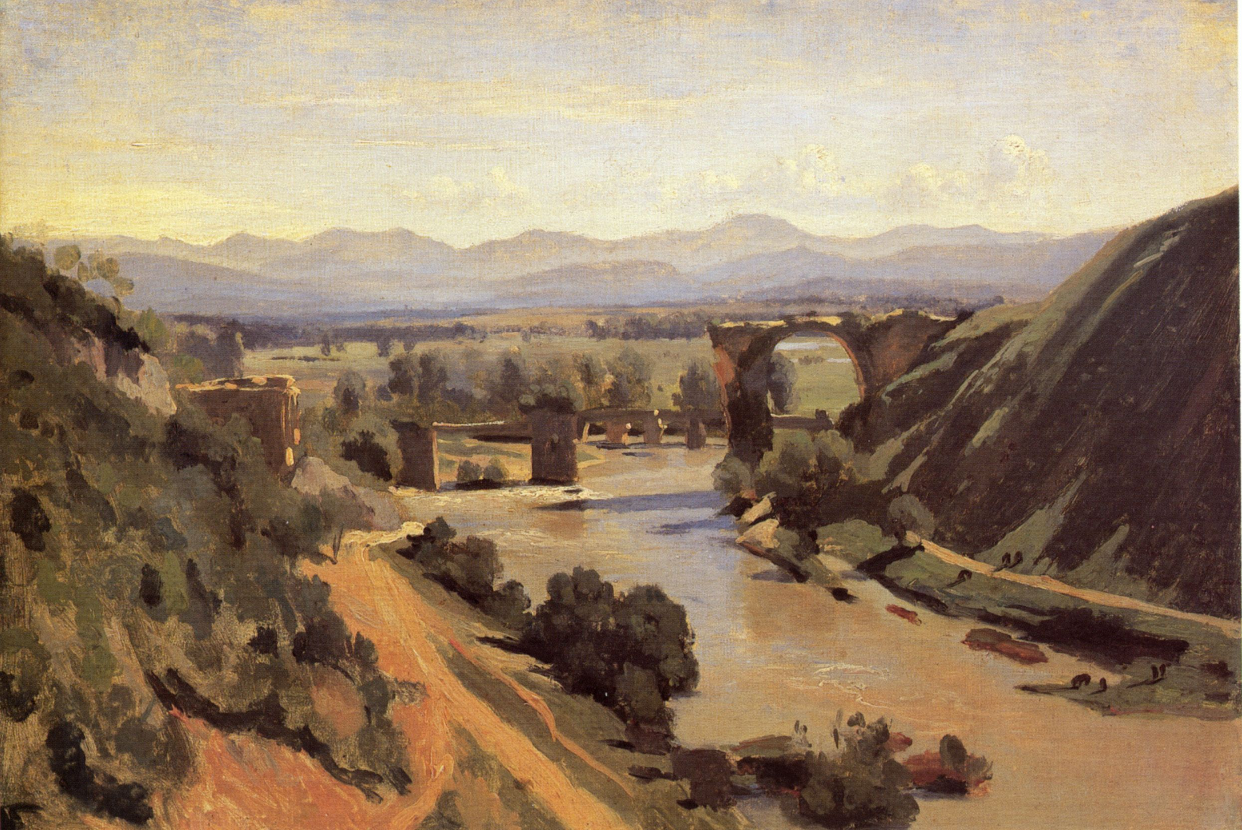The Bridge at Narni, Jean-Baptiste Camille Corot, 1826. Museo del Louvre, Parigi