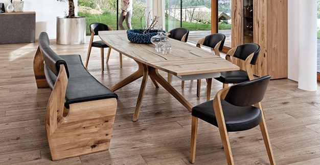 Awesome Genial freistehende eckbank Esszimmer Pinterest Table bench Tables and Bench