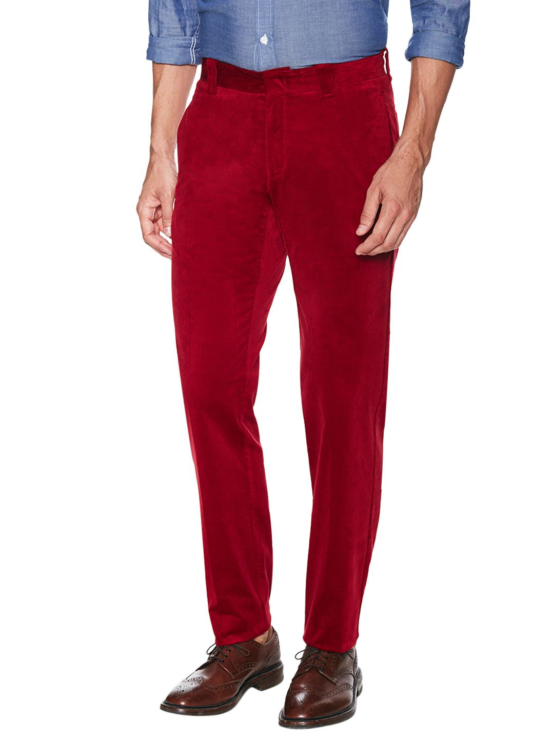 Red duca vusconti corduroy dress pants men fashion pinterest