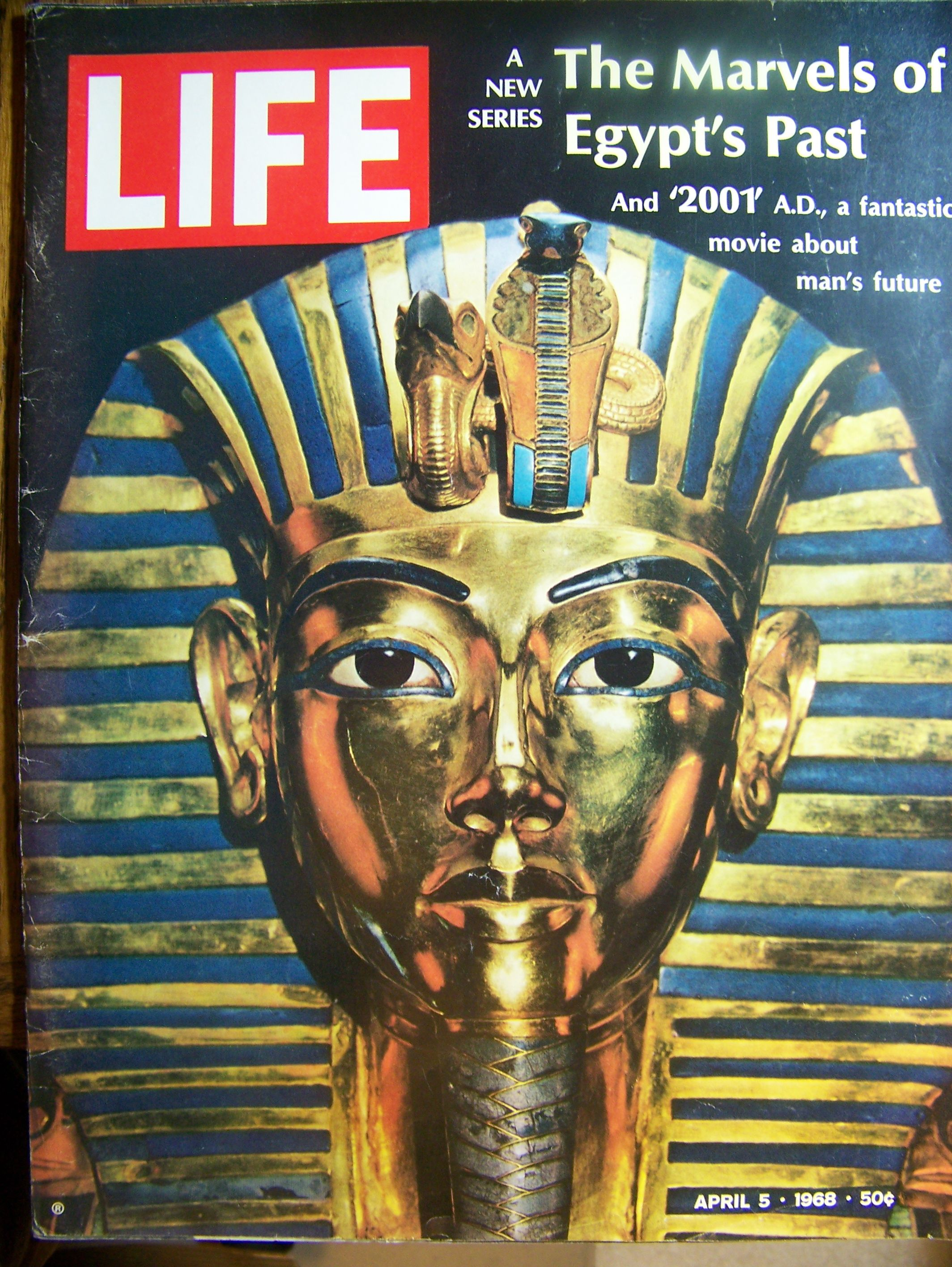 Life - USA - April 1968. Tour of the Egyptian treasures - Review  of the new movie, 2001.