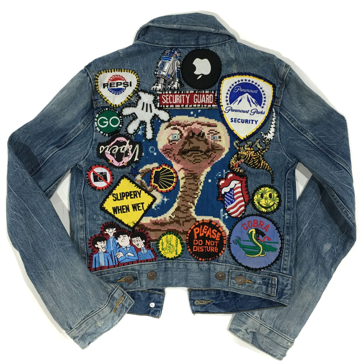 234ec67e Custom // denim jacket with patches | Military Now and outerwear ...