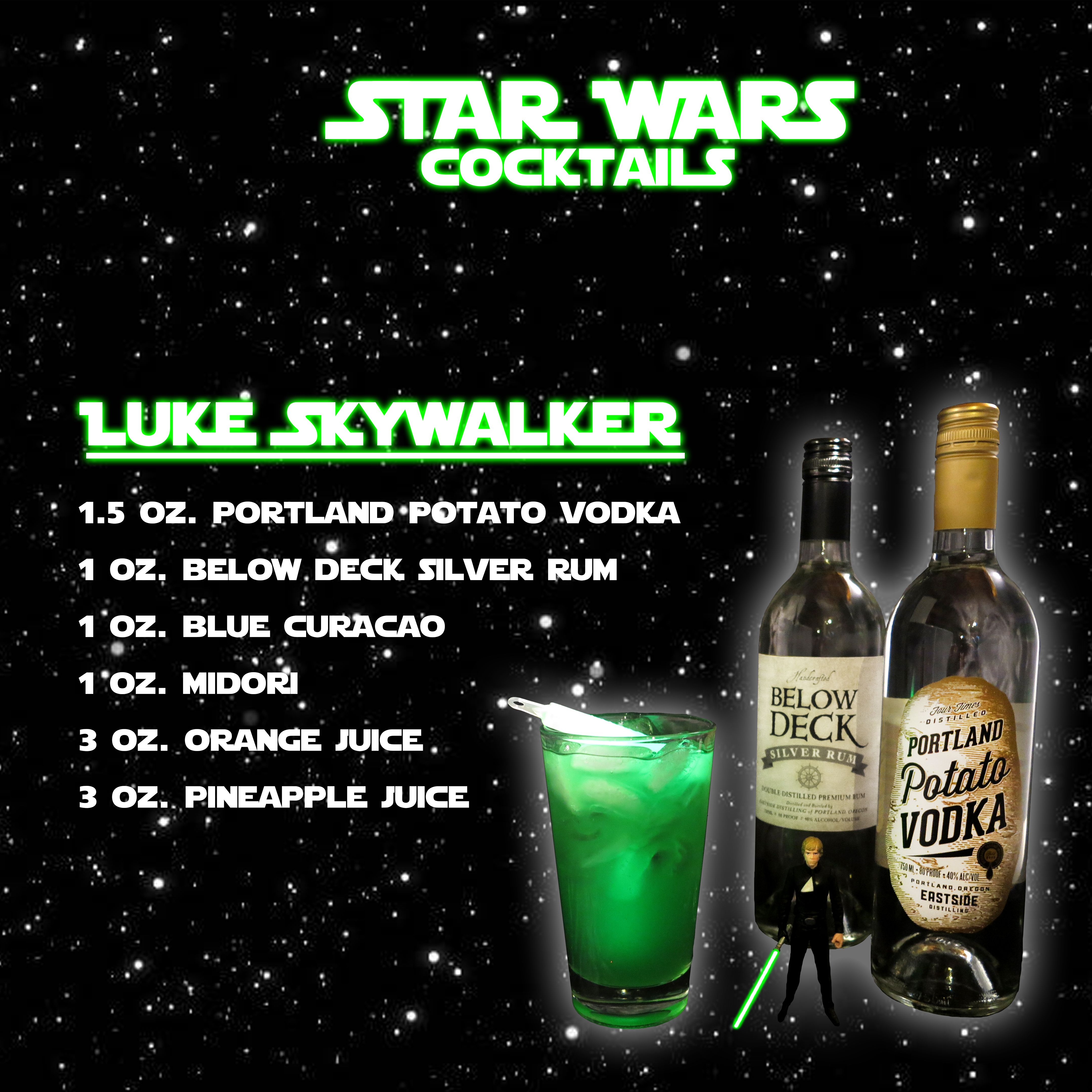 Star Wars: Luke Skywalker Cocktail