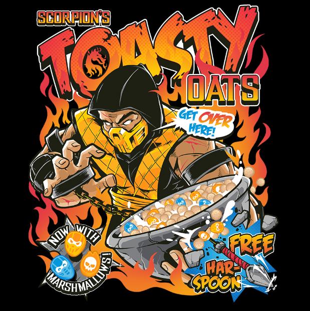 Toasty Oats Tee In 2021 Cartoon Character Tattoos Mortal Kombat Tees