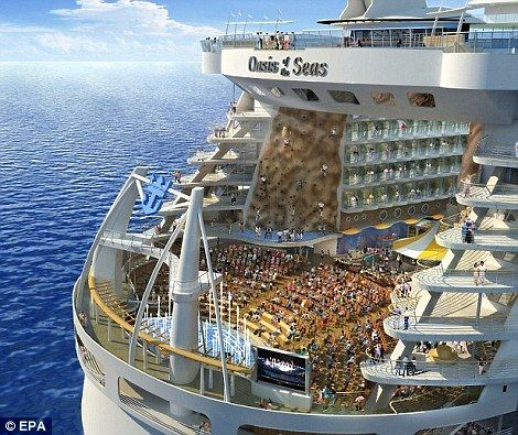 Worlds Largest Cruise Ship Sails Into The UK For The First Time - Big cruise ship