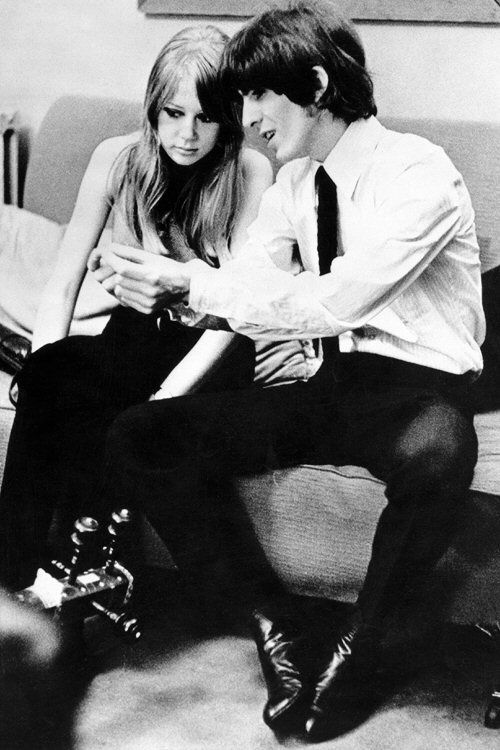 Sirpeter64The Young Love Birds Patty Boyd And George Harrison