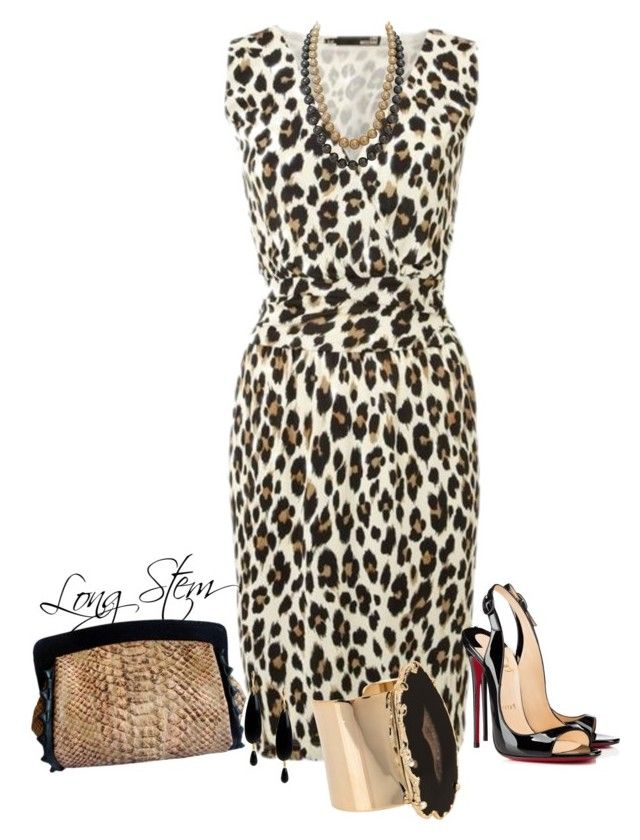 6/29/15 by longstem on Polyvore featuring Christian Louboutin, Valerie Nahmani Designs and NUR