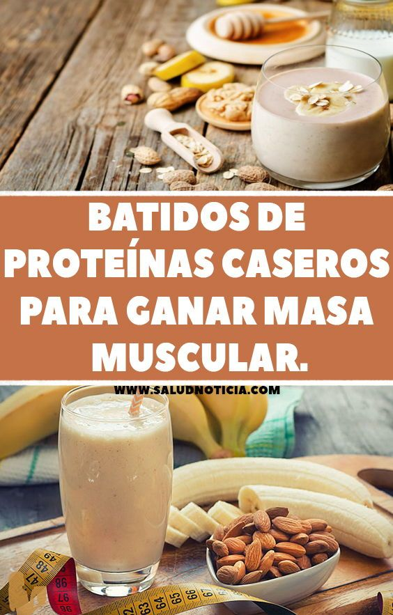Batidos De Proteínas Caseros Para Ganar Masa Muscular Workout Food Food Pre Workout Smoothie