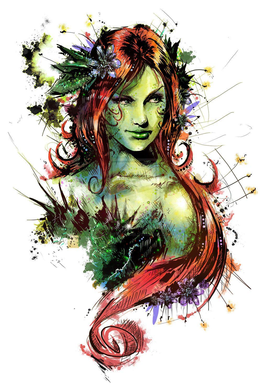 Sexy Poison Ivy Batman Drawing