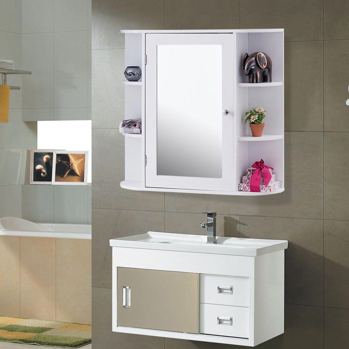 Multipurpose Mount Wall Mirror Bathroom Storage Cabinet Bathroomfurniture Wall Mounted Bathroom Cabinets Mirror Wall Bathroom Wood Bathroom Vanity
