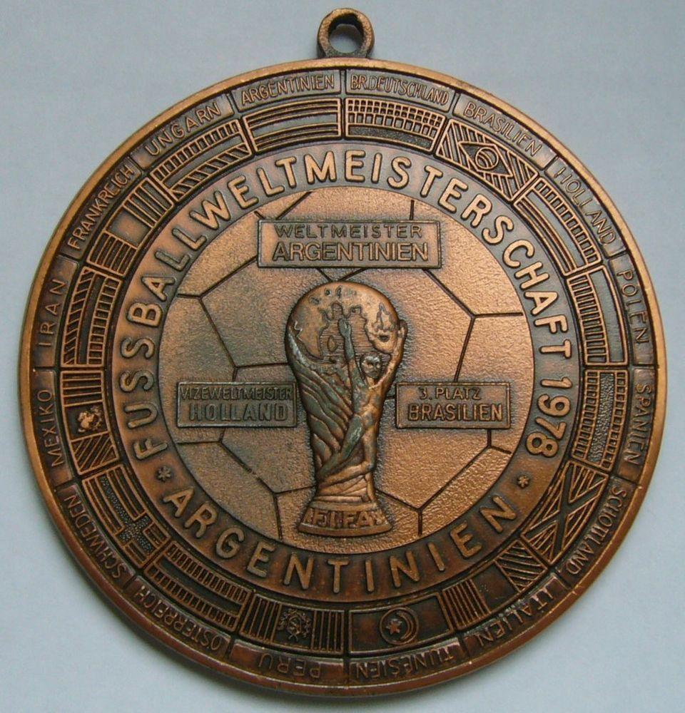 Fifa World Cup 1978 Huge Medal Copa Mundial De Futbol Argentina 78 Soccer Ebay Champions League Soccer Football