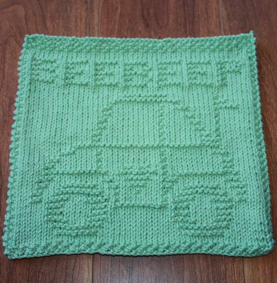 Free Knitting Pattern for Luv Bug Dish Cloth - This dish or wash ...