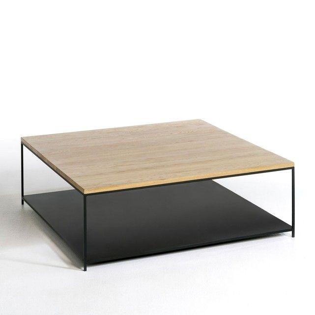 Table Basse Carree En Chene Massif Aranza Table Basse Carree Table Basse Table Basse Rectangulaire
