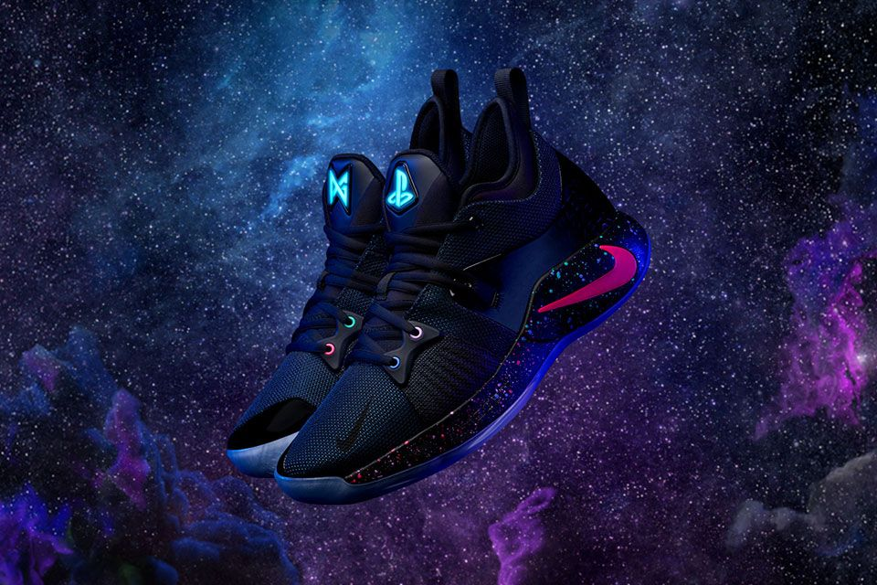 e07bb7e46427 Nike Paul George Playstation-themed PG2 Sneakers