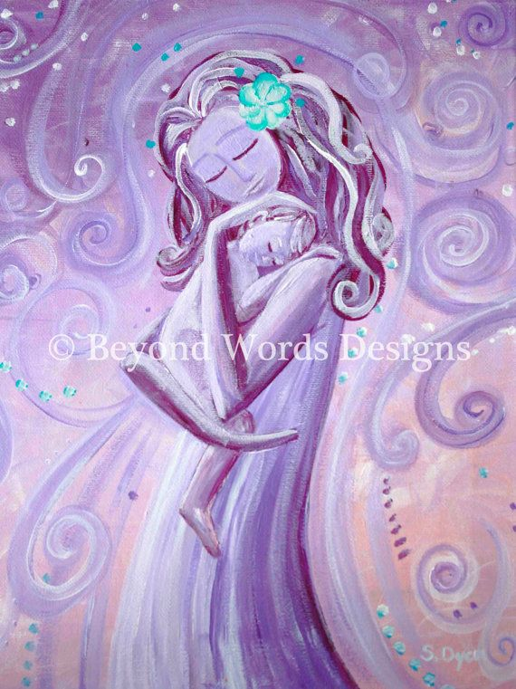 Dreams of You Mother and Child Cosleeping by BeyondWordsDesigns, $23.00
