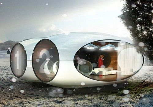 The xpod is a temporary housing concept that may have multiple uses from weekend recreation