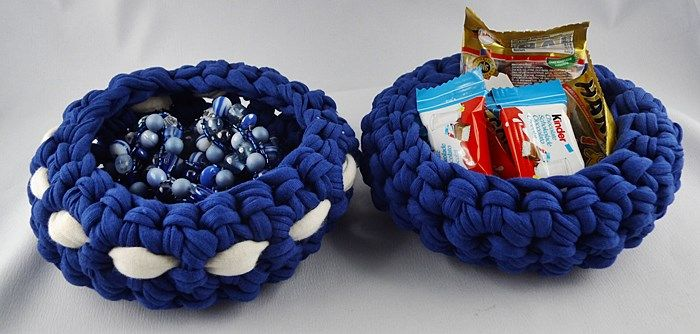 handarbeiten kleine schalen aus textilgarn h keln schmuck und handarbeiten pinterest. Black Bedroom Furniture Sets. Home Design Ideas