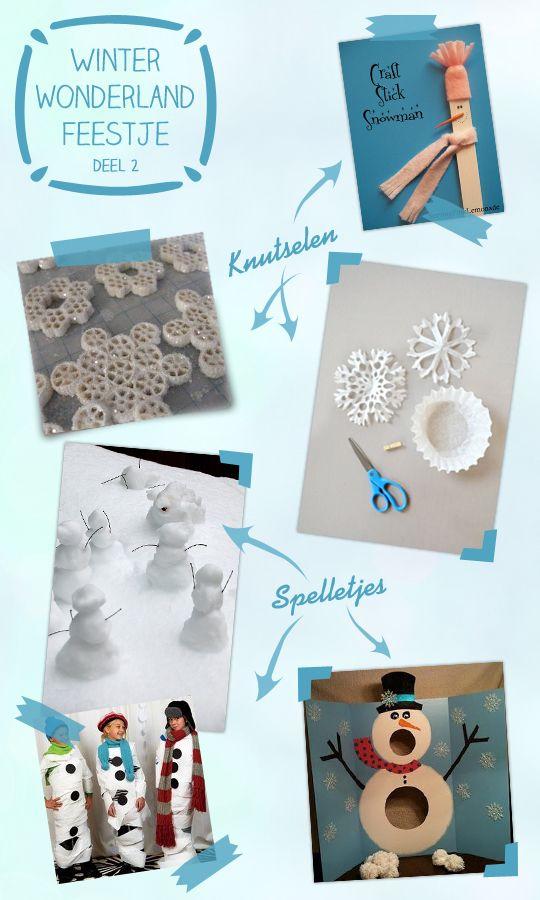Genoeg spelletjes en knutselideeen voor 'Frozen' Winterwonderland feestje @XR51