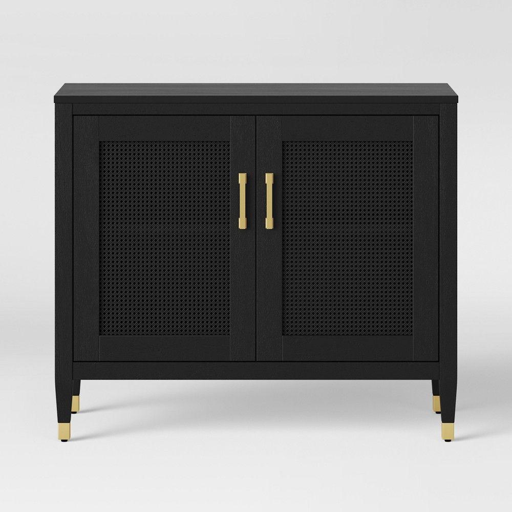 new style 08b2f 9418a IKEA MALSJO Black Stained Sideboard | Aloma | Ikea glass ...