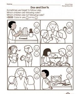 school rules worksheet 2 back to school worksheetsworksheets for kids - Back To School Worksheets For Kindergarten