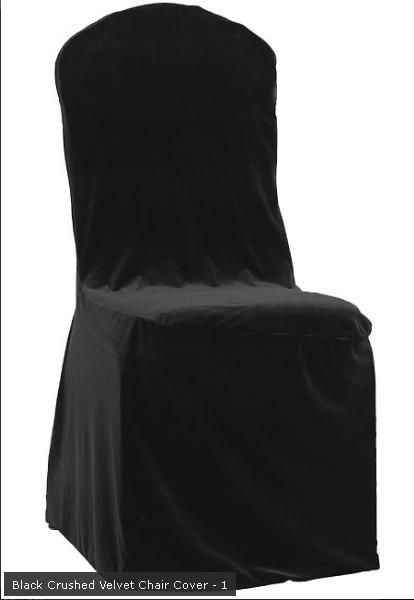Black Crushed Velvet Chair Cover For Round Top Banqueting Chairs Velvet Chair Chair Covers Chair Cover