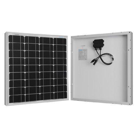 Renogy Monocrystalline 50w Watts Solar Panel Ul Listed Off Grid 12 Volt 12v Rv Boat Monocrystalline Solar Panels Solar Panels Solar Panel Lights