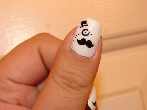 amazing old english silly man nail polish ;)