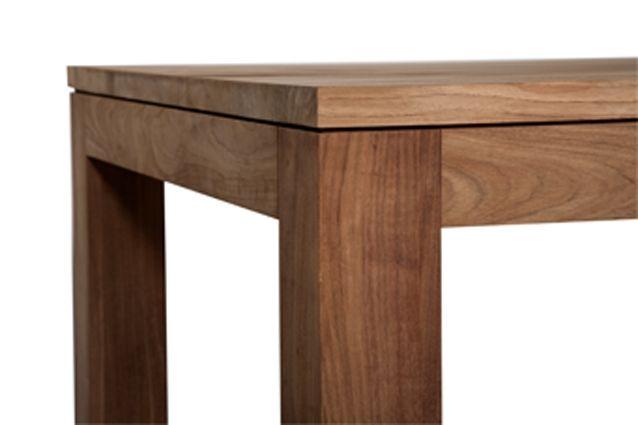 Kubus tavolo in legno massello di teak by Ethnicraft, lunghezza 250 ...