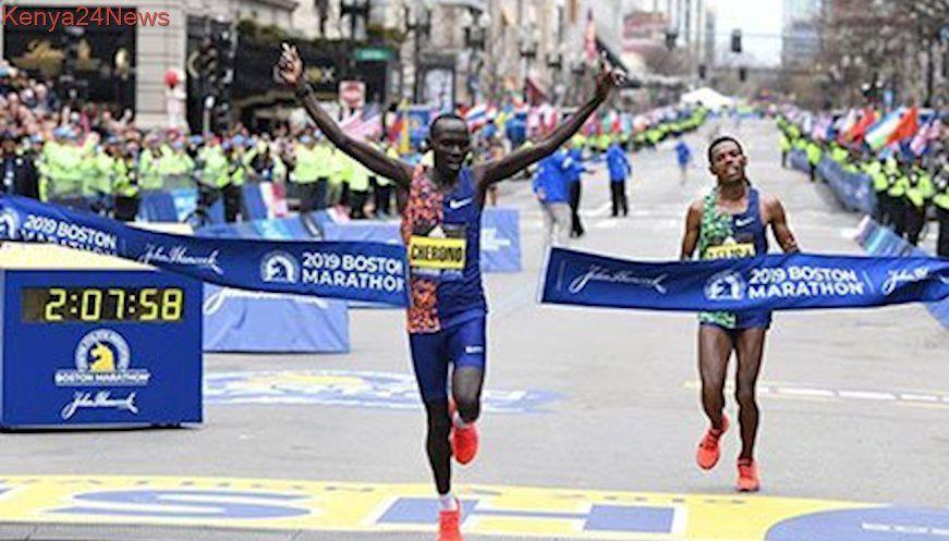 Kenya's Lawrence Cherono wins dramatic Boston Marathon