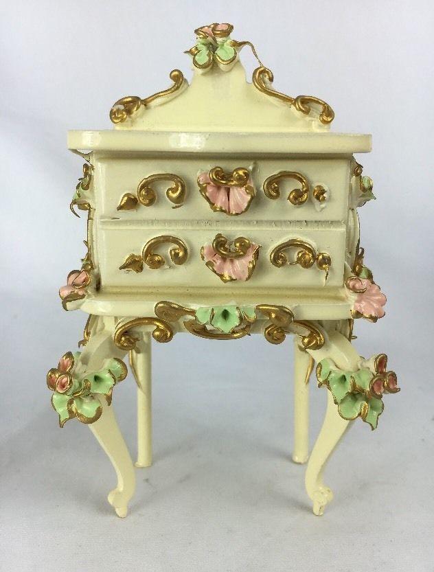 Best Beautiful Spielwaren Dollhouse Miniature Nightstand Side 400 x 300