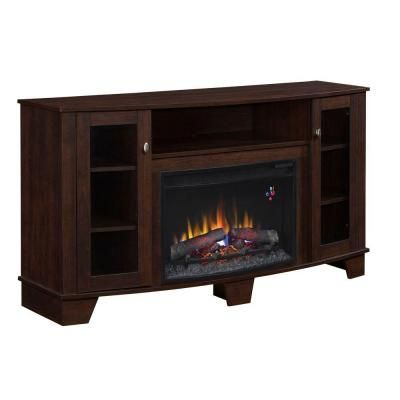 Home Decorators Collection Grand Haven 59 In Media Electric Fireplace In Dark Cherry 89208y The Home Depot Media Electric Fireplace Electric Fireplace Fireplace