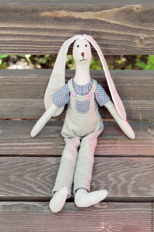 157Игрушка мягкий заяц